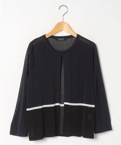 【大きいサイズ】【アンサンブル対応】天竺編み ニットボレロ