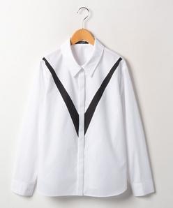 【大きいサイズ】【洗える】Arrowモチーフ ブロードシャツ