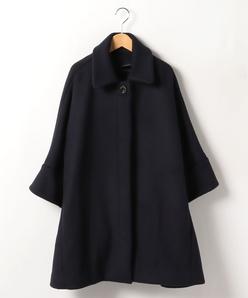 【大きいサイズ】ドルマンスリーブ ステンカラーコート