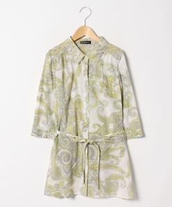 【大きいサイズ】シルクコットン更紗プリント羽織りブラウス