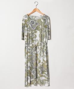 【大きいサイズ】スムース更紗プリントドレス