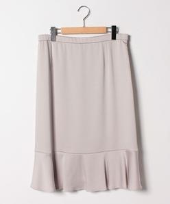 【大きいサイズ】シルキーサテンフレア切り替えスカート