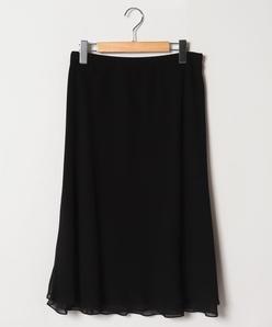 【大きいサイズ】ポリエステルシフォンスカート