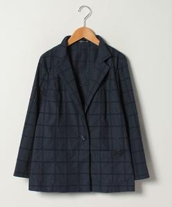 【大きいサイズ】ハイカウントブロードレース刺繍ジャケット