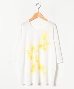 【大きいサイズ】スムース花柄プリントチュニックカットソー