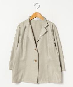 【大きいサイズ】麻混ブッチャーテーラードジャケット