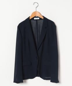 【大きいサイズ/セットアップ対応】強撚ウールボイルテーラードジャケット