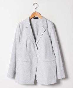 【大きいサイズ/セットアップ対応】スラブストライプ テーラードジャケット