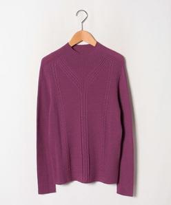 【大きいサイズ】ホールガーメント ハイネックセーター