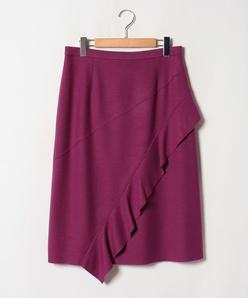 【大きいサイズ】ウールバランサエアメルトン スカート