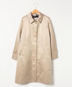 【大きいサイズ】キルティングライナー付き サテンコート