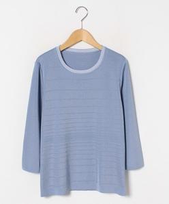 【大きいサイズ】ピンタックアクセント セーター