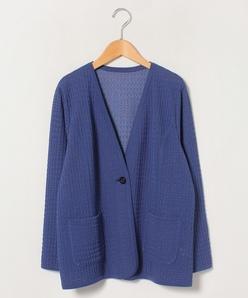 【大きいサイズ】透かし編みカーディガン