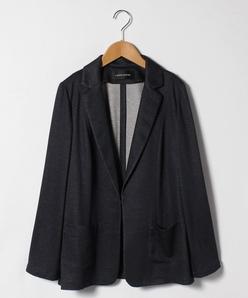 【大きいサイズ】メランジリバー テーラードジャケット