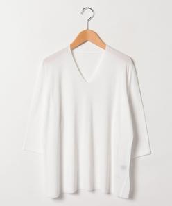 【大きいサイズ】【洗える】ゴム地天竺セーター