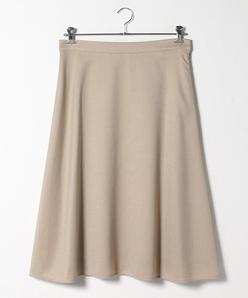 【大きいサイズ】ビエラストレッチ フレアスカート