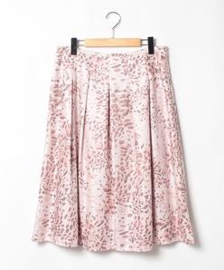【大きいサイズ】【セットアップ対応】ビエラアニマルプリント フレアスカート