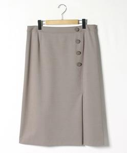 【大きいサイズ】【セットアップ対応】 ウールナイロンポンチ スカート