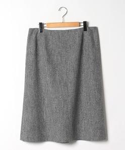 【大きいサイズ】【セットアップ対応】シルク混ツィードスカート