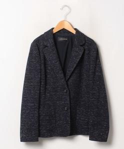 【大きいサイズ】コットンツイード調 ニットジャケット