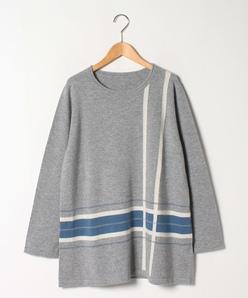 【大きいサイズ】GOBIカシミヤ インターシャニットセーター