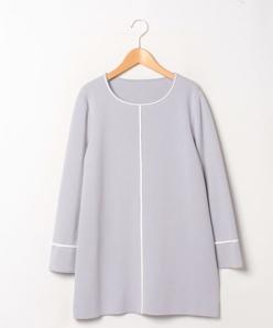 【大きいサイズ】14G ミラノリブ チュニックセーター