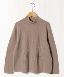 【大きいサイズ】12G ホールガーメント ハイネックセーター