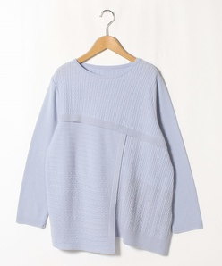 【大きいサイズ】12G ケーブル切り替えセーター