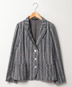 【大きいサイズ】【洗える】DA VINCIストレッチテーラードジャケット