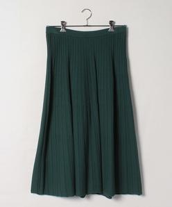 【大きいサイズ】【セットアップ対応】プリーツ風 ニットスカート