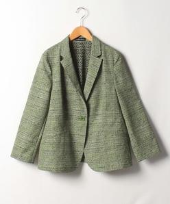 【大きいサイズ】【洗える】モナリザプリントジャケット