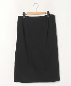 【大きいサイズ】【セットアップ対応】麻混 ストレッチスカート