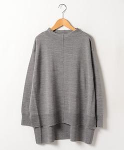 【大きいサイズ】スタンドネック ニットセーター