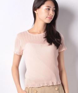 リブ編みセーター