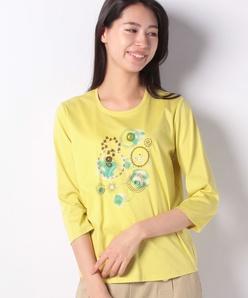 サークル刺繍Tシャツ