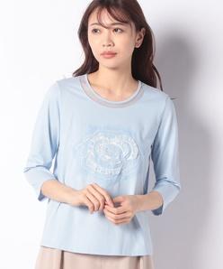 花柄刺繍Tシャツ