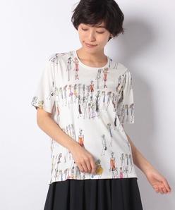 レディ柄プリントTシャツ