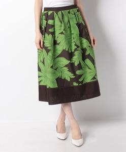 【セットアップ対応】DUTEL リーフ柄カットジャカード スカート