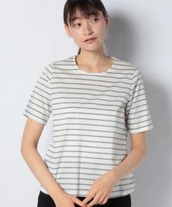 【洗える】ホットフィックス加工ボーダーTシャツ