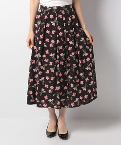 【セットアップ対応】ポリデシンフラワープリントスカート