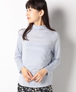 【洗える】ラメベア天竺 ボトルネックカットソー