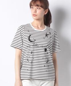 【洗える】プラネットプリント リラックスTシャツ