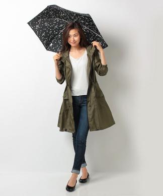 モッズ型レインコート&折りたたみ傘