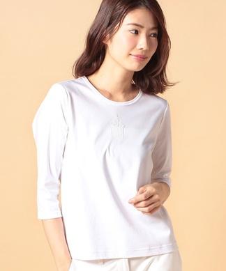 エンブレム刺繍Tシャツ