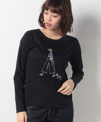 ロングスリーブプリントTシャツ