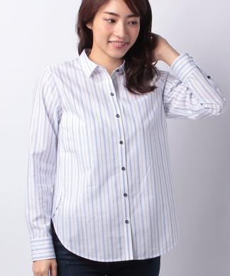 【LEGGIUNO】ロゴストライプシャツ