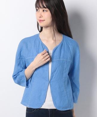 麻のライトジャケット