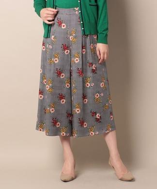 【LISA】千鳥格子×フラワースカーチョ