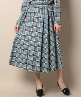 【セットアップ対応】【SOMELOS】チェックのフレアスカート