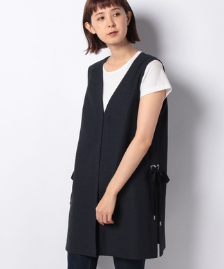 【特別提供品】リボンデザインロングジレ